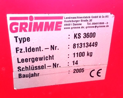 Used Grimme Haulm Topper from Standen Engineering