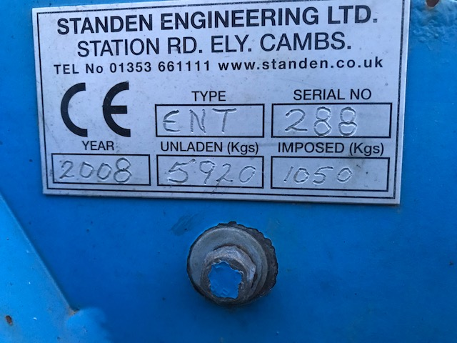 Used Standen Enterprise Serial Number