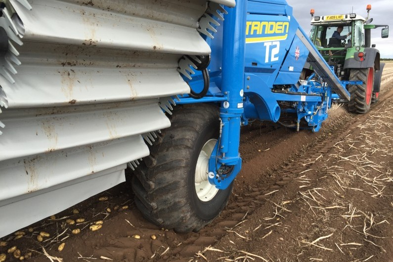 Standen T2 Potato Harvester RoTo Axle and windrower