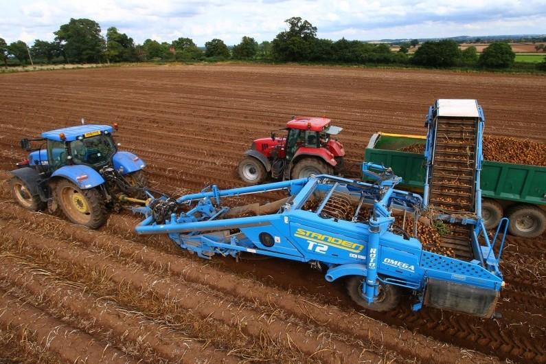 StandenT2 potato harvester aerial