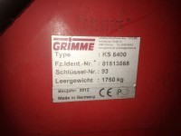 Used Grimme Haulm Topper serial number